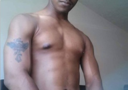 Black dick worship cam master posing.
